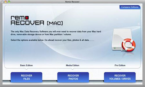 Recover Files from Unbootable Hard Drive Mac - Main Window